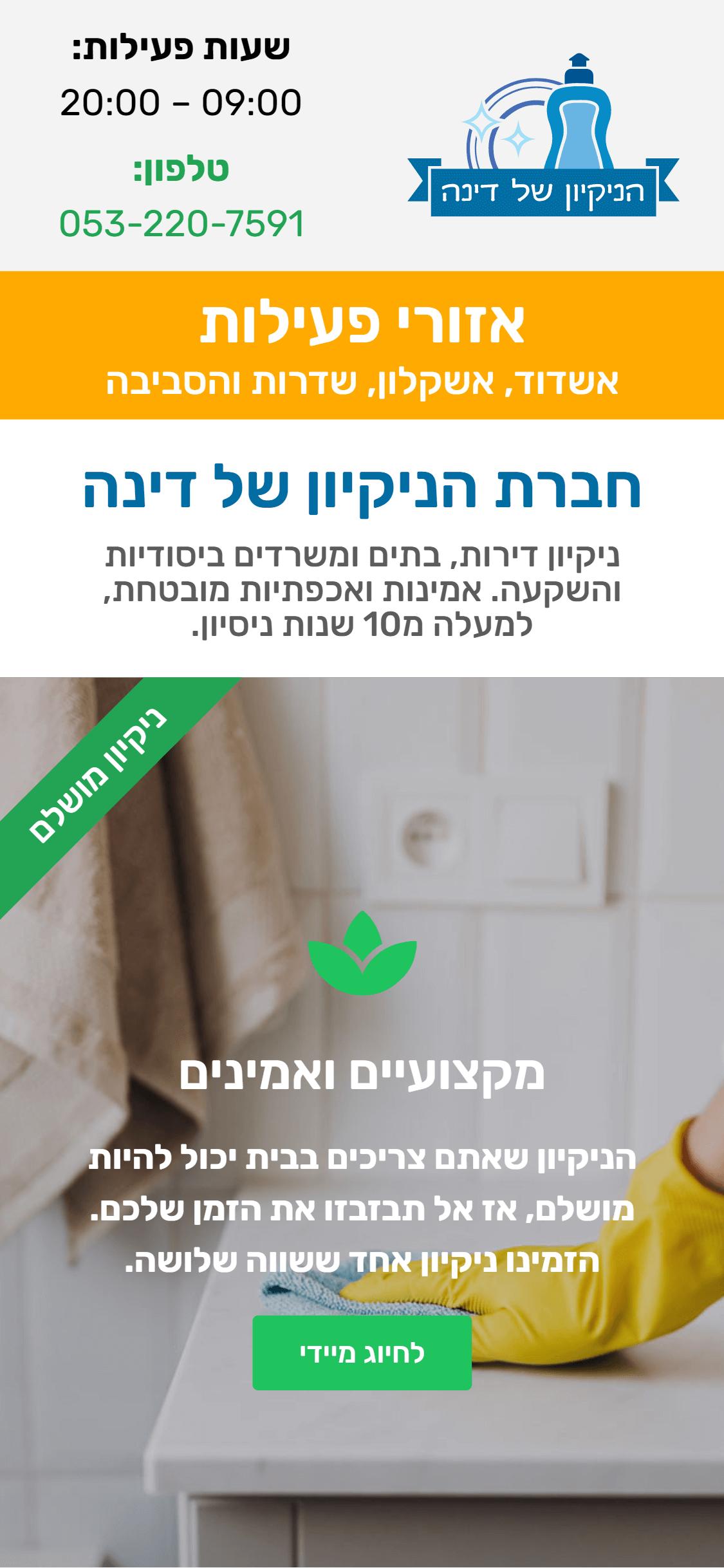 הניקיון של דינה - חברת פרסום אבי-ווב